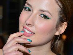 Emerald eyeliner