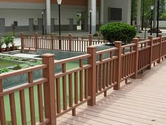 wpc walkways wooden fence panel for sale