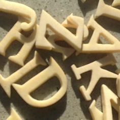 A Complete Set of Antique Ivory Alphabet Letters
