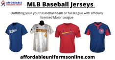 Outfitting your youth baseball team or full league with officially licensed Major League Baseball jerseys replica has never been easier. Shop blank cheap MLB baseball jerseys and MLB uniforms from affordableuniformsonline.com, get all majestic cool baseball jerseys, uniforms, hats, shirts and MLB gear from your favorite online shop. Baseball Uniforms, Sports Uniforms, Football Jerseys, Custom Football, Basketball Jersey, Major League, Youth, Hats, Shop