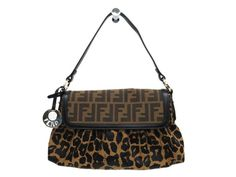 #FENDI Hand bag Zucca/Leopard Canvas/Leather Brown 8BR445 (BF081607). Authenticity guaranteed, free shipping worldwide & 14 days return policy. Shop more #preloved brand items at #eLADY: http://global.elady.com