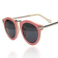 vintage pink | Vintage Pink Frame Sunglass Chic Su