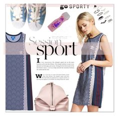 """""""Go Sporty!"""" by uptodatefashion-julia ❤ liked on Polyvore featuring adidas Originals, adidas and Topshop"""