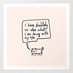 Little Cat Art Print by Kitten Rain - $15.60