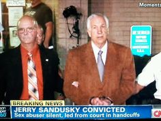Penn State's Jerry Sandusky convicted on 45 of 48 counts. #JERRYSANDUSKY