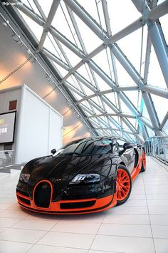 Another #Bugatti #Veyron...in orange and #black
