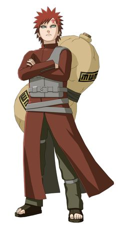 Gaara (我愛羅) is a shinobi of Sunagakure. He was made the jinchūriki of the One-Tailed Shukaku before he was born, causing the villagers of Suna to fear him as a monster. With nobody to connect to, Gaara grew up hating the world and looking out only for himself, justifying his own existence by killing anyone he came across. After being defeated in battle by Naruto Uzumaki, a jinchūriki like himself who found strength in his friendships, Gaara starts emulating Naruto. He becomes Suna's Fifth...
