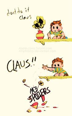 BAD CLAUS! by Amphibizzy on DeviantArt Angel Of Vengeance, Mother Games, Super Smash Bros Memes, Otaku, Mother Art, Fandoms, Fan Art, Deviantart, Pure Products