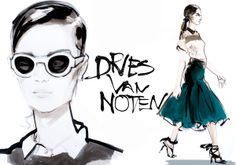 Fashion drawings on Illustration Served