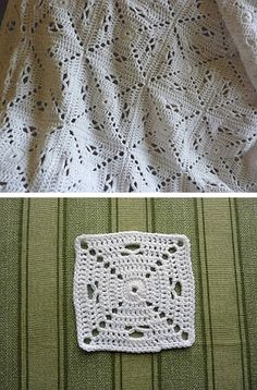 Granny square variation, free pattern from YellowPinkAndSparkly  #crochet #motif