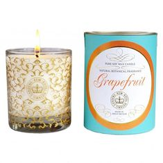 Kew Gardens Pure Soy Wax Glass Candle | Grapefruit | Beaumonde – Beaumonde ®