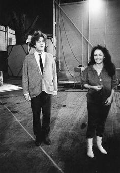 "#liztaylor #richardburton On the set of ""Who's Afraid of Virginia Woolf?"""
