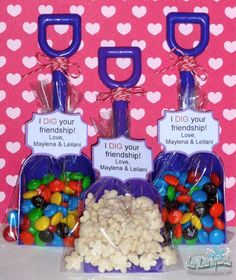 cute party favor for a beach themed party or a cute valentines gift idea