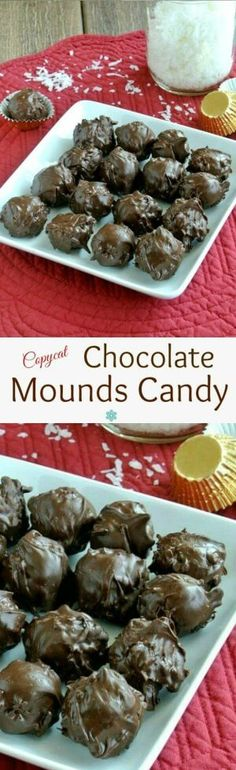 Chocolate Mounds Candy Balls recipe is based on the Mounds Bar. Four ingredients is all it takes to make the candy bar classic. Not exactly a copy-cat in looks but surely inspired. Easy and perfect! ~ http://veganinthefreezer.com