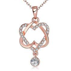 Llévalo por solo $15,800.Joyería del collar plateado N030 antialérgica libre colgantes de oro verdadero del nuevo de la manera.