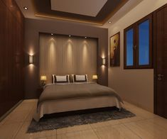 Modern style bedroom by homify Modern Plywood Simple Bedroom Design, Ceiling Design Living Room, Bedroom False Ceiling Design, Wardrobe Design Bedroom, Master Bedroom Interior, Bedroom Closet Design, House Ceiling Design, Bedroom Furniture Design, Modern Master Bedroom