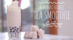 Do you love Taro Bubble Tea? My smoothie recipe uses real Taro root vs. While I like the flavor of taro powder, it's nice to have REA. Bubble Tea Near Me, Bubble Tea Menu, Taro Bubble Tea, Bubble Tea Shop, Bubble Milk Tea, Taro Smoothie, Tea Smoothies, Juice Smoothie, Smoothie Drinks