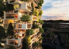 Otro bloque de pisos con árboles, de Stefano Boeri. Stefano Boeri ha diseñado otro bloque de pisos que tiene terrazas ajardinadas con árboles, esta vez para ganar un concurso de ideas en Lausana (Suiza). La torre tendrá una altura de 117 metros, y 3.000m2 de superficie verde, con más de 100 árboles plantados en sus jardineras modulares prefabricadas. En este trabajo han colaborado Laura Gatti y Burohappold. #Arquitectura, #Sostenibilidad