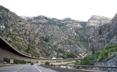 One of the World's most beautiful drives:  Interstate 70, Glenwood Springs, CO. The Colorado River carved this canyon billions of years ago.