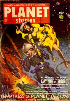 Planet Stories May 1953: Temptress of Planet Delight, Cover art by Allen Anderson