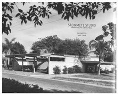 1948 - The Joseph Janney Steinmetz Photography Studio, 1614 Laurel Street, Sarasota FL. Commissioned 1947. Paul Rudolph with Ralph Twitchell.