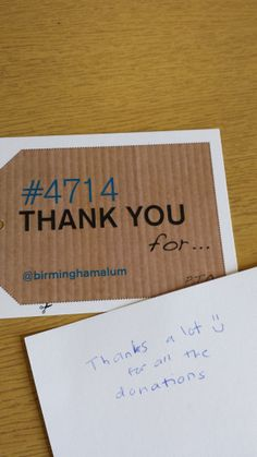 Dear Alumni. Thanks a lot for all the donations! #4714UoB #StudentEngageDay