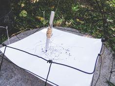 Billedresultat for wind drawing machine Drawing Lessons, Drawing Tools, Drawing Sketches, Drawings, Wind Drawing, Textiles Sketchbook, Drawing Machine, Art Lessons For Kids, Kinetic Art