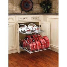 HD RS5CW2.2122.CR Rev A Shelf Two Tier Cookware Organizer   Chrome, 20.75  In., As Shown