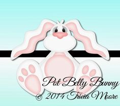 Little Scraps of Heaven Designs Weekly FREE: Pot Belly Bunny...Free from March 31 - April 6