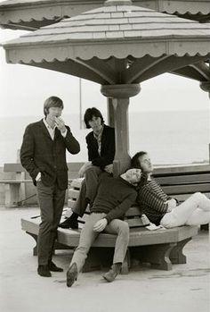 The Doors. Early photo shoot at Venice Beach, CA.