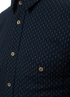 Percival Clothing | Classic Shirt - Japanese Navy Double Dot - New Arrivals