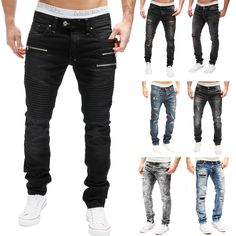 MERISH Herren Jeanshose Destroyed Clubwear Slim   Regular Fit Blue Jeans MIX  NEU   eBay 2a02f1c543