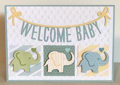 Flower Market Cartridge -  Welcome Baby Card