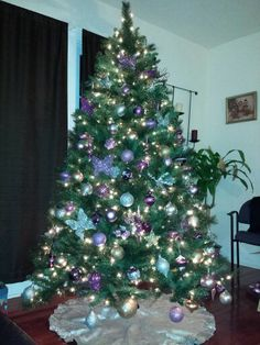 Purple silver and gold tree is done!