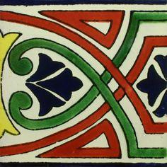 Traditional Mexican Border Tile - Guia California – Mexican Tile Designs