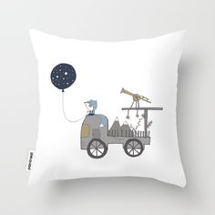 100% HAND DRAWN! Choosing the perfect design is not simple? Get now this unique Fox Car Observatory Balloon High Quality Throw Pillow and dress your home!