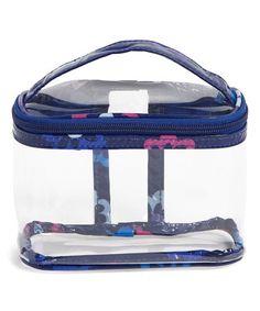 f0429d8dc637 Vera Bradley Ellie Flowers Travel Clear Cosmetic Bag