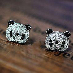 Panda Rhinestone Earrings