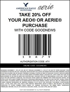 Aerie online coupon 2018