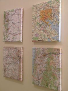 Atlas Wall Art....places we want to visit, maybe?