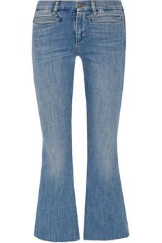 M.I.H JEANS Marrakech Cropped Mid-Rise Flared Jeans. #m.i.hjeans #cloth #jeans