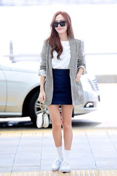Look at this Trendy work korean fashion Korean Airport Fashion, Korean Fashion Trends, Asian Fashion, Fashion Styles, Fashion Ideas, Fashion Tips, Snsd Fashion, Fashion 2017, Girl Fashion