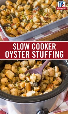 This classic New England style recipe is perfect for a thanksgiving side dish. Shucked oysters. Fluffy French bread. Smoky bacon. Seasoned with the robust flavors of parsley, thyme, nutmeg and sage. Our Homemade Oyster Stuffing can also be prepared as a slow cooker side dish to save space in the oven during your Thanksgiving prep.