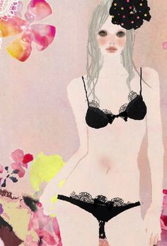 Toko Ohmori lingerie illustration