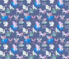 Pastel Fairy fabric by koko_bun on Spoonflower - custom fabric My Design, Custom Design, Custom Fabric, Spoonflower, Fabric Design, Craft Projects, Fabrics, Fairy, Pastel
