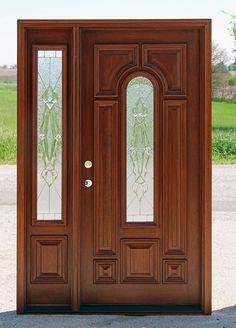 525 door with 75 sidelight Sierra Glass Wooden Main Door Design, Modern Wooden Doors, Wooden Front Doors, Front Door Design, Wood Doors, Exterior Entry Doors, Entrance Doors, Home Entrance Decor, Door Design Interior