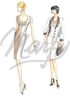 Model 2733 | Sewing Pattern Dress