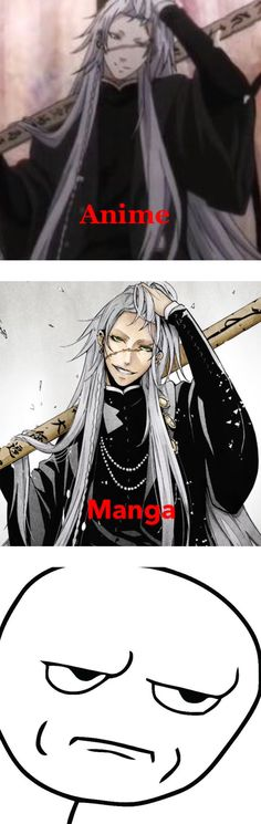 This makes sense... Manga is better. Black Butler Kuroshitsuji