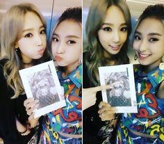 SNSD TaeYeon snap cute selfies with Sistar's Bora ~ Wonderful Generation
