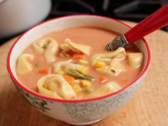 Get Ree Drummond's Veggie Tortellini Soup Recipe from Food Network. LOVED IT!
